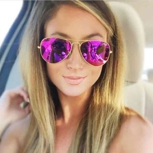 Ray Ban Icon Aviators Purple Sunglasses New